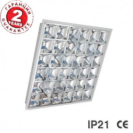 LED ОСВЕТИТЕЛНО ТЯЛО IP21  4x9W вграден монтаж