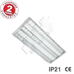 LED ОСВЕТИТЕЛНО ТЯЛО IP21 2x18W вграден монтаж